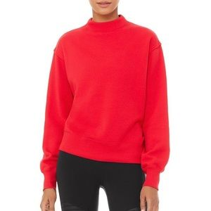 Alo yoga NWOT freestyle sweatshirt in red medium